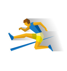obstacle race runner track-and-field athletics vector image