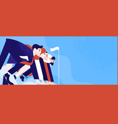 office workers or clerks standing ready on start vector image