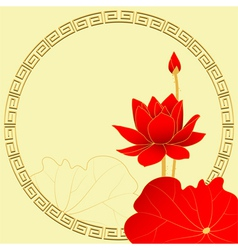 Oriental Lotus Flower Background vector
