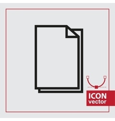 Paper Simple Icon vector image