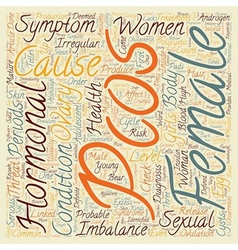 PCOS A Risk on Female Sexual Health text vector image
