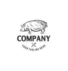 pork logo designs for butchery companies vector image