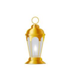 Ramadan kareem lantern in oriental style vector