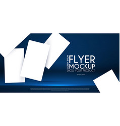 realistic flying business cards posters and flyer vector image