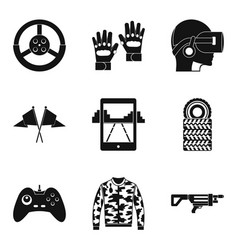 Reconstruction icons set simple style vector