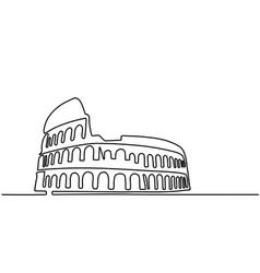 Rome coliseum editable line icon vector