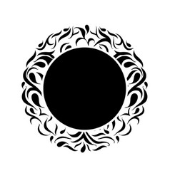 round ornamental frame border vector image
