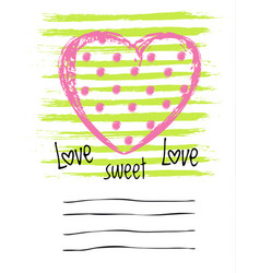 Saint valentines day greeting card vector