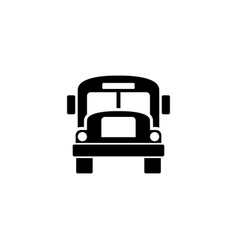 school bus flat icon vector image