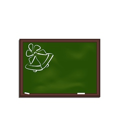 School chalkboard with bells vector image