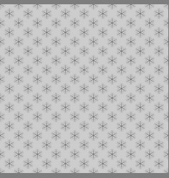 Seamless stylized snowflake pattern background vector