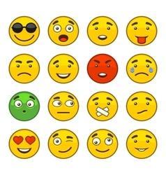 set of emoji smile icons vector image