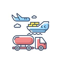 Shipping rgb color icon vector