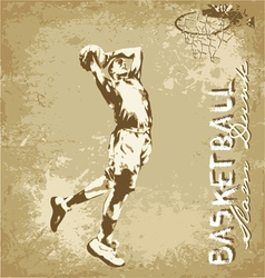 slam dunk basketball vector image
