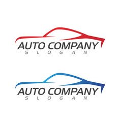 speed auto car logo template vector image
