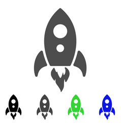 startup rocket flat icon vector image