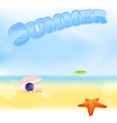 summer black pearl vector image