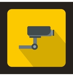 Surveillance camera icon flat style vector image