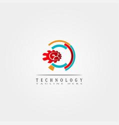 Technology icon template creative logo design vector