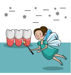 tooth fairy cartoon vector image