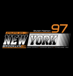 typography athletic new york brooklyn vector image