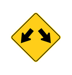 usa traffic road signs traffic is permitted to vector image