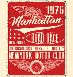 Vintage man t shirt graphic design about newyork vector