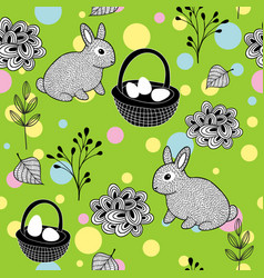 Wallpaper for the easter holiday vector
