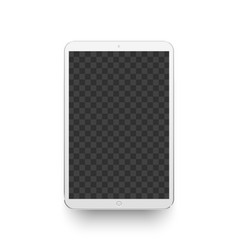 white tablet mockup electronics device vector image