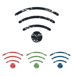 Wi-Fi grunge icon set vector