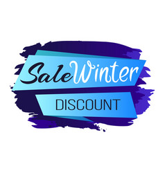 Winter sale clearance icon vector