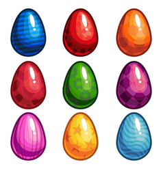 a set of colored eggs vector image