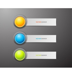 Button and labels vector image