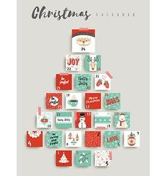 Christmas advent calendar cute ornament decoration vector image
