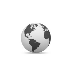 globe shape in realistic style with shadow vector image vector image