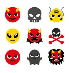 red devil monster evil ghost bad cartoon vector image
