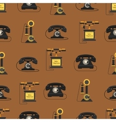 Telephones icons sealess pattern vector image