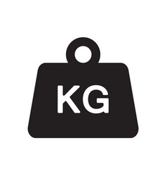 weight kilogram icon vector image vector image
