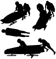 Bobsleigh Silhouette vector image vector image