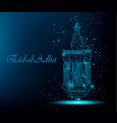 eid al adha beautiful greeting card with vector image