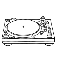 record player vector image