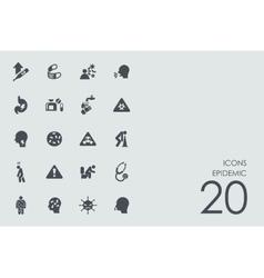 Set of epidemic icons vector image