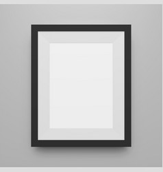 black blank picture frame realistic mockup vector image vector image