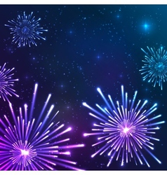 Shining neon lights new year card vector image vector image