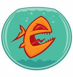 Vicious pet goldfish vector