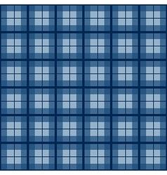 Navy blue tartan background vector