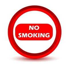 Red no smoking icon vector image
