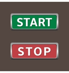 Start and stop buttons vector image