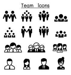 team icons vector image vector image