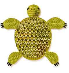 turtle zentangle pattern vector image vector image